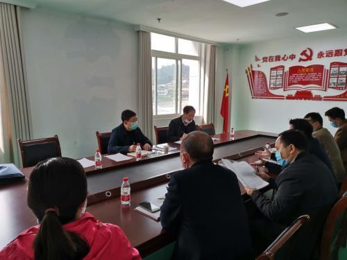 指导组在彭水县靛水街道召开座谈会
